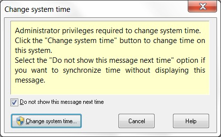 Changing time in Windows 7