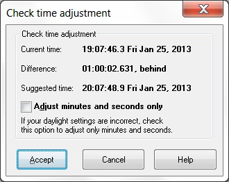 Check Time Adjustment